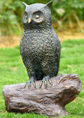 Owl Sculpture with Bluetooth Speaker