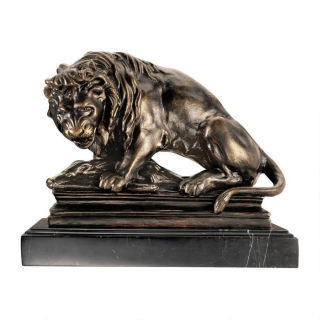 Lion and Boar Statue by Antoine Louis Barye