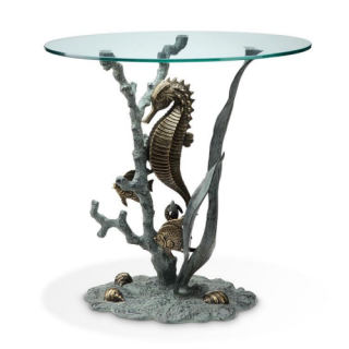 Seahorse Sculptural End Table