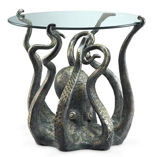 Octopus End Table Sculpture