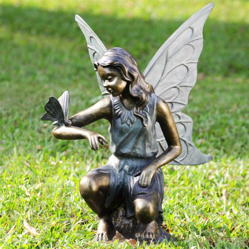 Grace Garden Sculpture Fairy and Butterfly