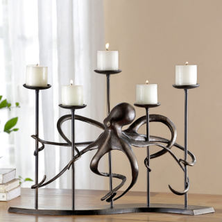 Octopus Sculptural Candelabra Holder