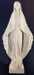 Immaculate Virgin Mary Bonded Marble Statue
