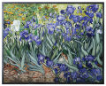 Irises Art Glass Hanging by Van Gogh Sculpture