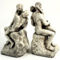 Kiss by Rodin Bookend Sculptures