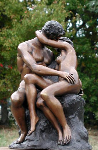 The Kiss By Rodin Bronze Sculpture