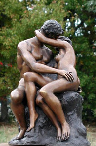 The Kiss By Rodin Bronze Statue Large Scale Reproduction by Artist