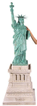 Statue of Liberty Large on Pedestal Sculpture