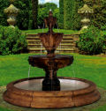 Leonesco Lion Fountain Three Tier In Toscana Pool