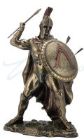 Leonidas with Spear and Shield Sculpture