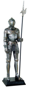 Life-Size Knight Suit of Armor Statue Left