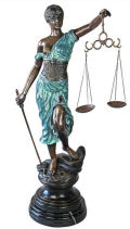 Blind Justice Cast Bronze Sculpture
