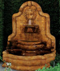 Lion Face Terrazzo Bella Wall Fountain