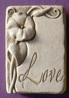 Love Morning Glory Bontanical Plaque