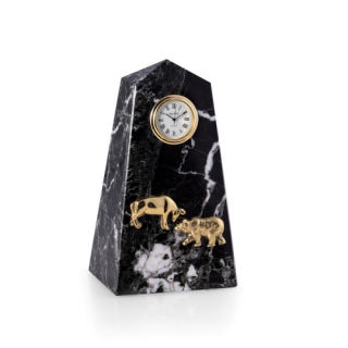 Stock Market Clock with Bear and Bull