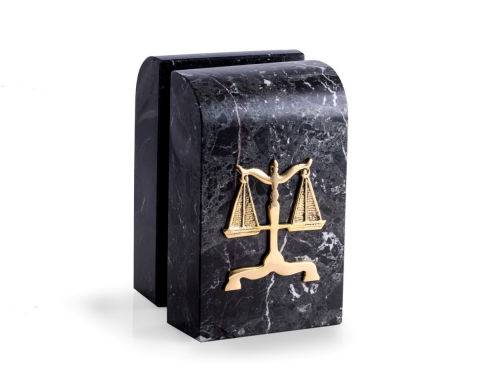 Legal Bookends Marble Justice Scales