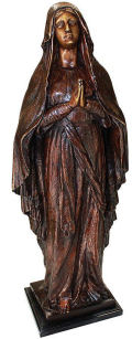 Blessed Mother Madonna Bronze Garden Statue