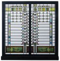 Martin House Window Sculpture by Frank Lloyd Wright Art Glass Reproduction