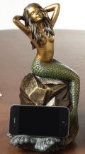 Mermaid Sculpture Cellphone Holder and Bluetooth Speaker