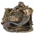 Mermaid and Conch Sculptural Box