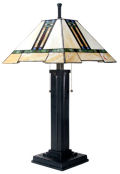 Mission Stained Glass Lamp Inspired by Louis Comfort Tiffany