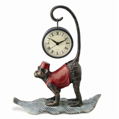 Monkey clock sculpture