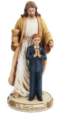 My First Communion Jesus with Boy Statue  11.5