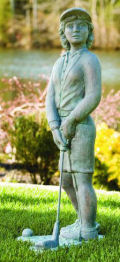 golf sculptures, statues and sculptural gifts for sale