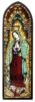 Our Lady of Guadalupe Art Glass Hanging Sculpture