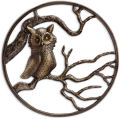 Owl on Branch Wall Hanging Sculpture