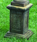 Pedestal Garden Decor Ornate Design