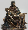 Pieta Statue in Faux Bronze Patinas Small