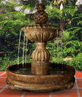 Pina Cascada Pooled Garden Fountain