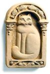 Cat Sculpted Wall Plaque
