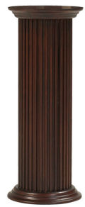 Column Round Fluted Wood Pedestal 36