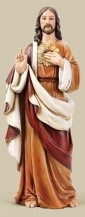 Sacred Heart Of Jesus Colored Large Scale Statue