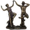 Satyr Dancing with Nymph Sculpture