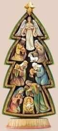 Tree Shaped Nativity Sculpture Puzzle