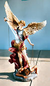 Archangel Saint Michael Colored Angel Statue