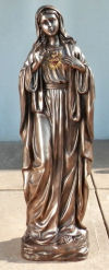 Mary Sacred Heart Bronze Colored Statue 40