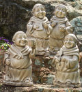 Set of Four Garden Monks Sculptures