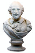 Shakespeare Bust Statue White