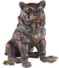 British Bulldog Sculpture Iron Coin Bank