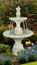 Contemporary Tiered Spill Cement Fountain