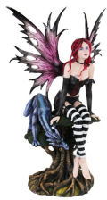 Spirited Fairy with Dragon Sculpture 23