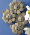 Spring Flower Quartet Wall Plaque Sculpture
