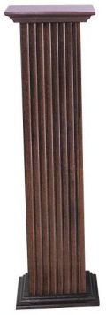 Square Fluted Pedestal Cherry Finish