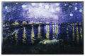 Starry Night Over the Rhone Art Glass Hanging by Van Gogh