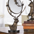 Deer Table Mirror Sculpture