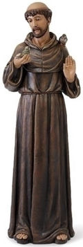Life-Size Saint Francis with Birds Statue